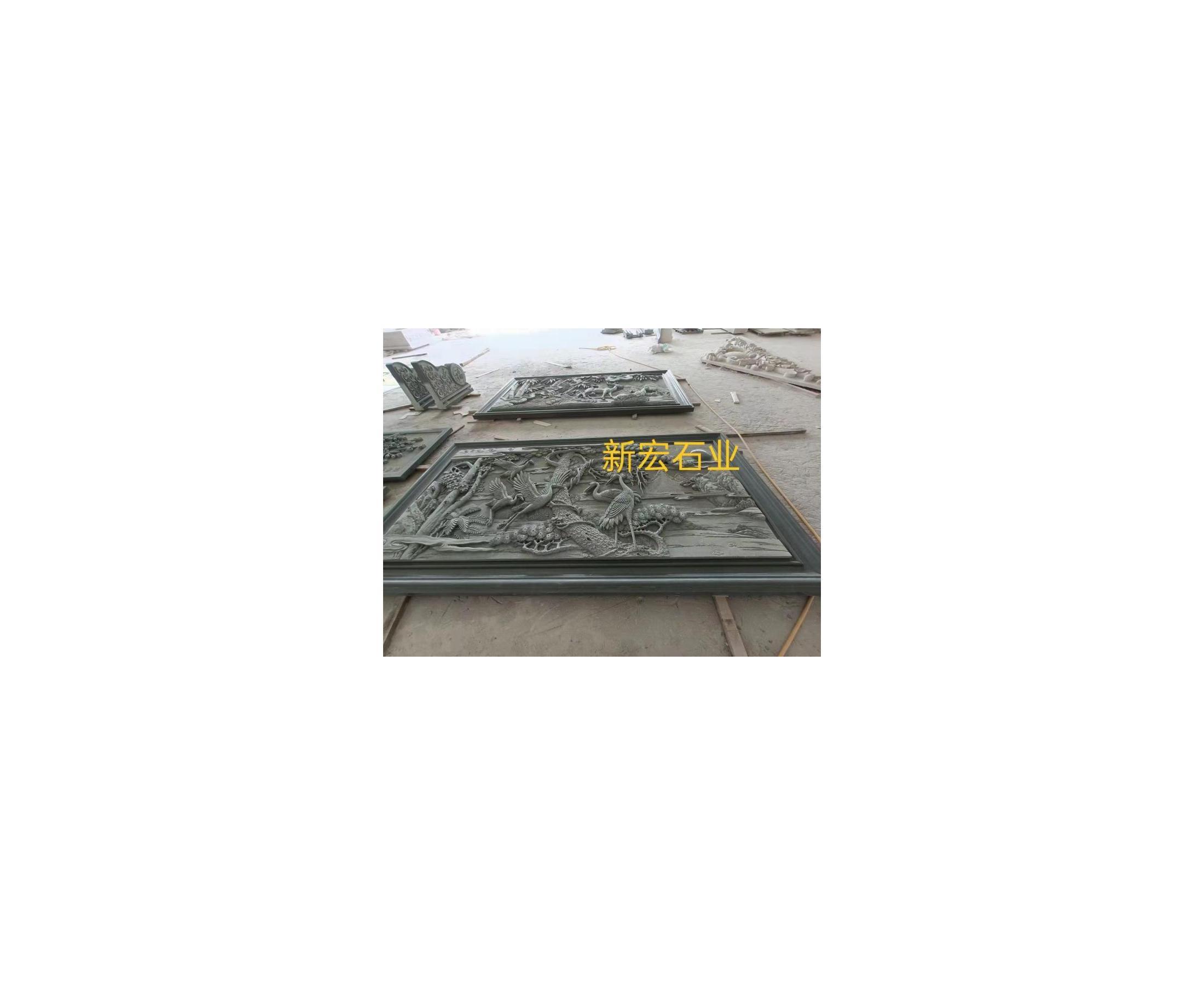厂家供应四合院浮雕松鹤百福照壁影壁照壁墙古建筑